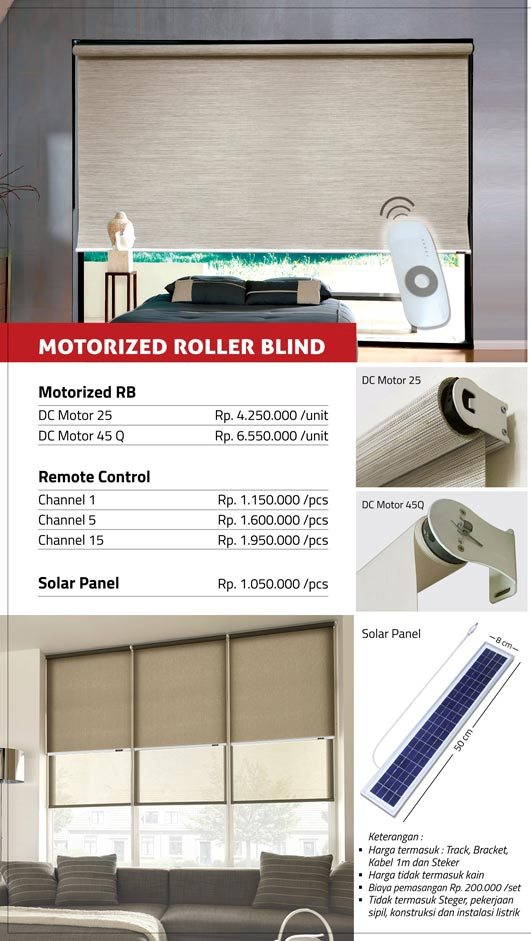01 MOTORIZED ROLLER BLIND
