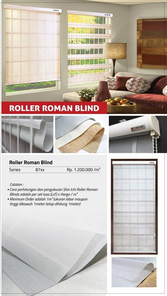 10 ROLLER ROMAN BLIND