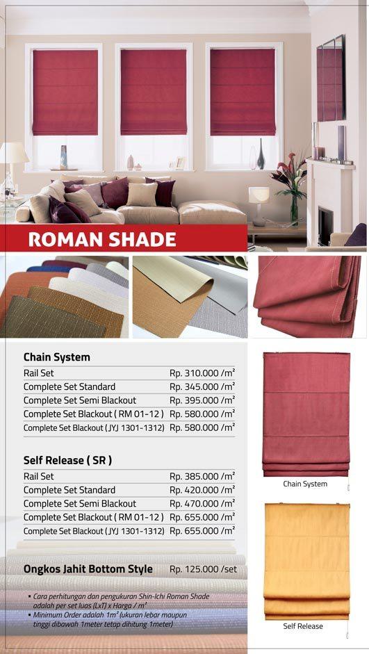 13 ROMAN SHADE